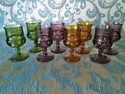 Vintage 1950's Indiana Glass Co. Kings Crown Wine Glasses ~ Set of 8
