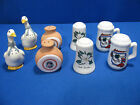 FOUR SETS OF SALT AND PEPPER SHAKERS  VTG GEESE NC ARK  CO SOUVENIRS