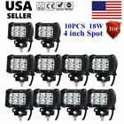 20pcs 4 Inch 18w Cree Led Work Light Bar Spot Atv Off-road Fog Driving Jeep Suv