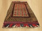 Authentic Hand Knotted  Afghan Baluch Balouch Soft Wool Area Rug 6x3 Ft