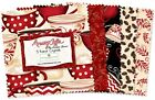 """42-5"""" SQUARES~MORNING COFFEE~Wilmington FABRIC~""""CHARM PACK""""~5 KARAT CRYSTALS~CUP"""