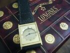 Vintage Longines Gold Tank Watch with Longines Box- Needs Serviced
