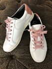 Circus Sam Edelman Womens Sneakers Collins 2 Flamingo White Orange Size 10 NWOB