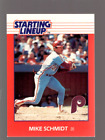 1988 Kenner Starting Lineup Cards #100 Mike Schmidt - NM-MT