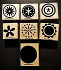 7 Stampin Up Wooden Stamps from BIG PIECES collection