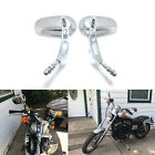 Motorcycle Rearview Mirrors Chrome Fit For Harley Dyna Softail Road King Touring