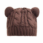 Women's Winter Cable Knit Chunky Brown Cat Ears Hat Beanie Cosplay FREE SHIPPING