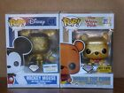 Funko Pop! Mickey Mouse & Winnie The Pooh Glitter Gold Vinyl Figures (Set of 2)
