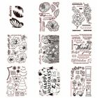 Flowers Holiday Stamps Transparent Clear Silicone Stamp Seal Scrapbooking Album