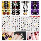 Halloween Style Nail Sticker Spooky Nail Art Decals Full Wrap Stickers Sets
