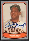 1988 Pacific Legends #24 Willie Mays Auto San Francisco Giants