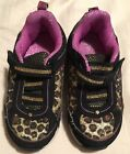 GIRLS SIZE 7 LEOPARD PRINT LIGHT UP SNEAKERS GARANIMALS