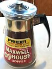 VTG Maxwell House Corning Glass INSTANT COFFEE Maker Pot 10 oz 8 Promotional
