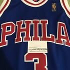 MITCHELL AND NESS AUTHENTIC BASKETBALL NBA NIKE ADIDAS JERSEY PHILA IVERSON 44 L