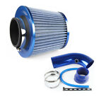 75mm Inlet Short Ram Cold Air Intake Filter Pipe Aluminum Cleaner Blue Washable