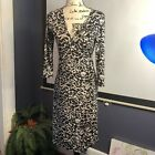 Bcbg Max Azria Wrap Dress In Black & White Sz S #D1-2