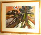 Vintage G. Ralph Smith ABSTRACT PAINTING Mid Century Modern WPA PAFA LISTED 1972