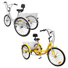 6 7 Speed 24 Adult 3 Wheel Tricycle Bicycle Cruise Bike W Basket Backrest New
