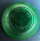 Vintage Ribbed Green Glass Bowl E.O. Brody Co Cleveland Ohio USA Made Free Ship!