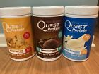 NEW QUEST PROTEIN POWDER VANILLA CHOCOLATE PEANUT BUTTER 2Lb SHAKE WHEY 23G