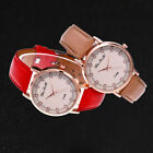 Women's Fashion Casual Leather Strap Analog Quartz Round Watch Simple Cheap Gift