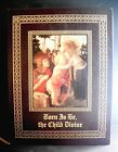 Nativity Christmas Leatherbound Book Amy Gelber 1997 Born Is the Child Divine