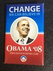 Presidential Pin Back Obama Button 2008 Campaign President Candidate