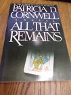All That Remains by Patricia Cornwell 1993 Paperback SIGNED AND INSCRIBED