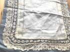 Antique Unused Hand Made Lace Lawn Wedding Handkerchief On Original Paper