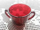 Anchor Hocking Ruby Red Open Sugar Bowl Double Handle 2 7/8