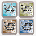 Tim Holtz Distress Oxide Ink Pads by Ranger Lot 4 colors Full Size New