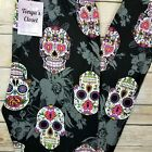 Sugar Skull Leggings Black Base Multi Floral Buttery Soft ONE SIZE OS