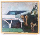VINTAGE ABSTRACT MODERNIST OIL PAINTING Mid Century Modern PIER DOMENICO GIANI