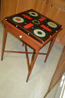 Antique Reverse Painted Parcheesi Game board game Folk Art end coffee table