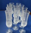 Vintage  Clear Footed Wine/Champagne Glasses 8 1/4