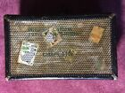 Antique Vtg Art Deco 1920s Steamer Trunk Chest Luggage Langmuir Checkered Cubed