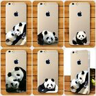 Lovely Animals Panda Ultra-Thin Rigid Plastic Case for iPhone and Samsung Galaxy