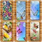 Butterfly Flowers Spring  Rigid Plastic Case for iPhone and Samsung Galaxy j S A