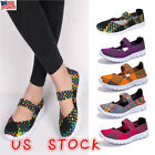 Stylish Women Ladies Slip On Elastic Flat Shoes Summer Breathable Casual Sandals