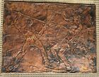 Old Copper GLADIATORS Embossed Handcrafted Wall Hanging Art Panel Vintage!!