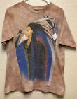 VTG 90s THE MOUNTAIN Mens Large Native American Tie Dye Gina Grey Beige Tshirt