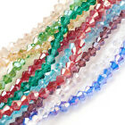 10strand Mixed Color Faceted Bicone Glass Bead AB Finished Handcraft Bead 44mm