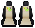 Vw Beetle Front Car Seat Covers Blackbeige Wdaisyladybughibiscuspeace Sign.
