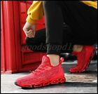 Stylish Mens Mix Color Knit Sport Running Shoes Lace Up Casual Athletic Sneakers