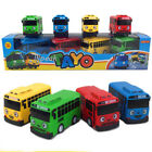 4PCS Set the Little Bus Tayo Friends Cute Cars Model Scale Pull back Toy Gift