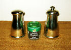 French Peugeot Freres Lion Silver Plated Salt Shaker and Pepper Mill