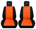 Vw Beetle Front Car Seat Covers Black-orange Wdaisyladybugbutterflyhibiscus