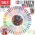 Gel Pens Set Glitter White Ink For Coloring Books Metallic Neon Colored Kids