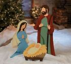 3 Pc Outdoor Nativity Scene Christmas Lawn Decoration Holy Family Holiday Decor