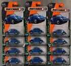 MATCHBOX 62 VOLKSWAGEN BEETLE LOT OF 12 MBX ROAD TRIP 65TH ANNIVERSARY FREE SHP